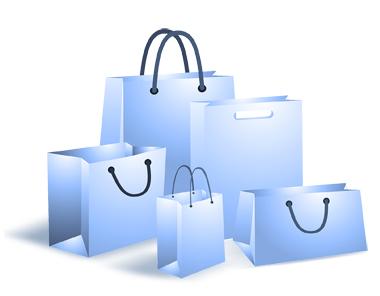 Бумажные пакеты в торговле