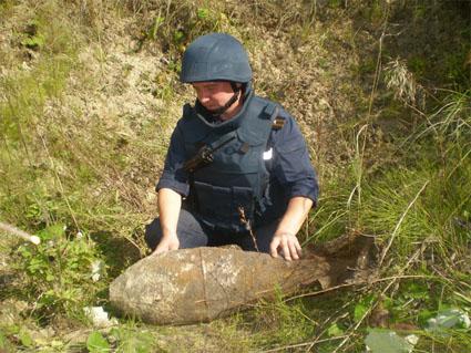 На Млинівщині піротехніки МНС знешкодили  50 кілограмову фугасну авіаційну  ...