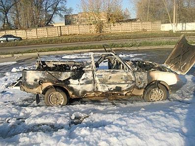 У Здолбунові  вибухнув автомобіль