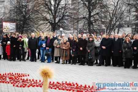 Рівненщина вшанувала пам'ять жертв Голодомору [ФОТО]