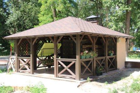 Купити дерев'яну альтанку в Woodom
